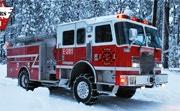 Winter Firefighters Truck 2